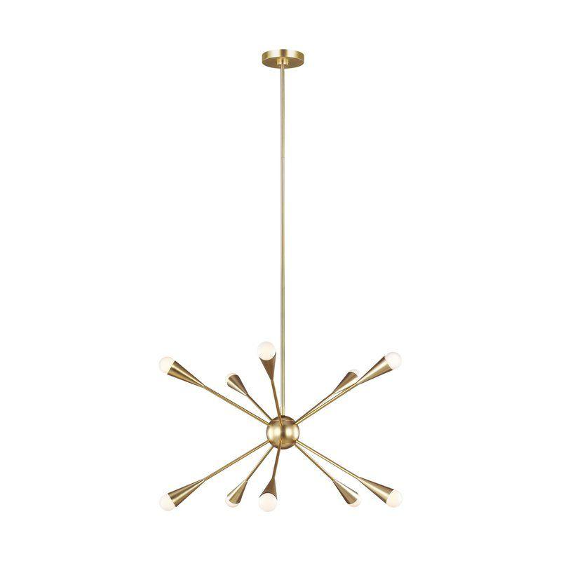 Jax 10 Light Sputnik Chandelier Pertaining To Eladia 6 Light Sputnik Chandeliers (View 17 of 20)