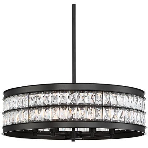 Jaylen 23 1 2W Oil Rubbed Bronze And Crystal Pendant Light In Whitten 4 Light Crystal Chandeliers (View 10 of 20)
