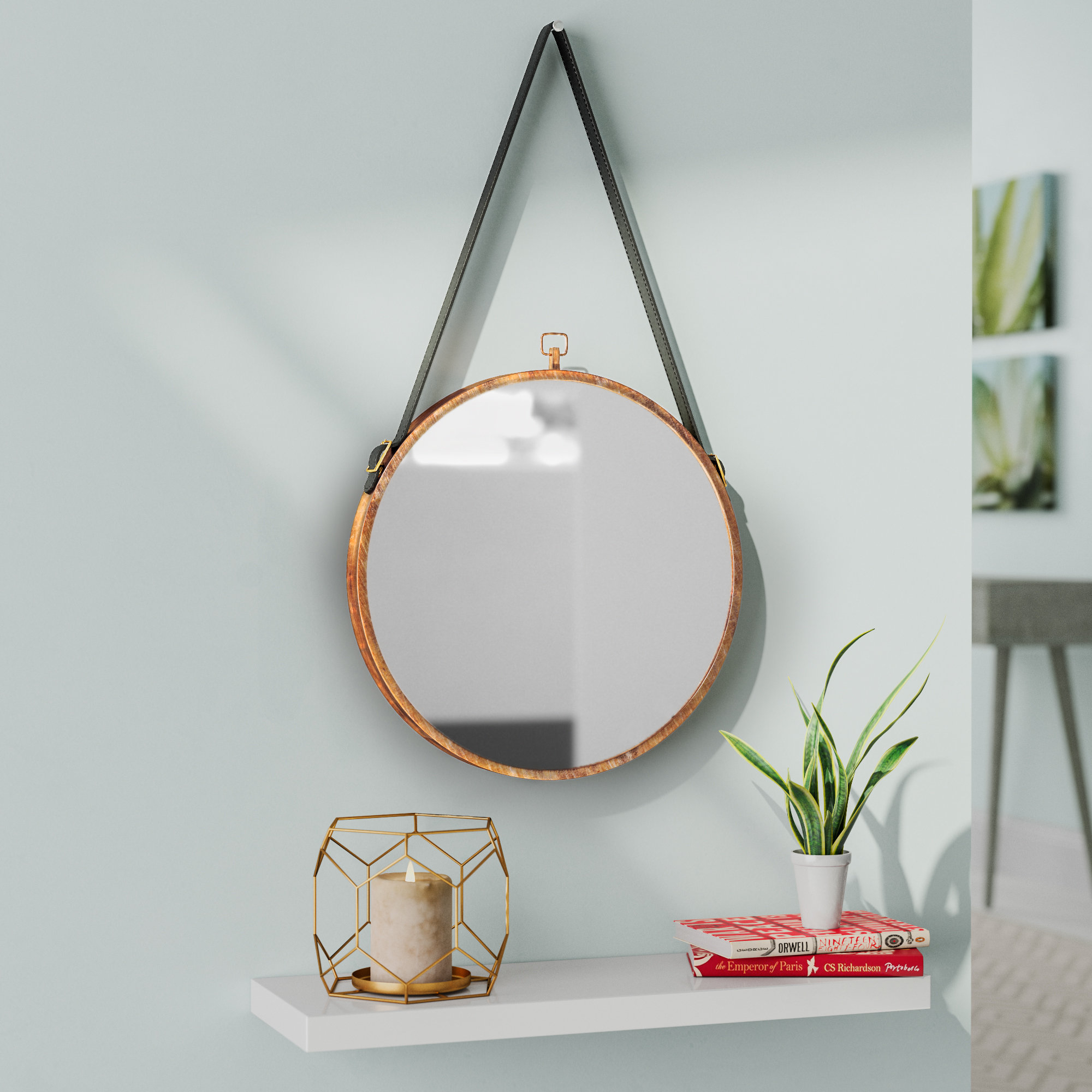 Jaylen Circle Accent Mirror Intended For Rhein Accent Mirrors (View 5 of 20)