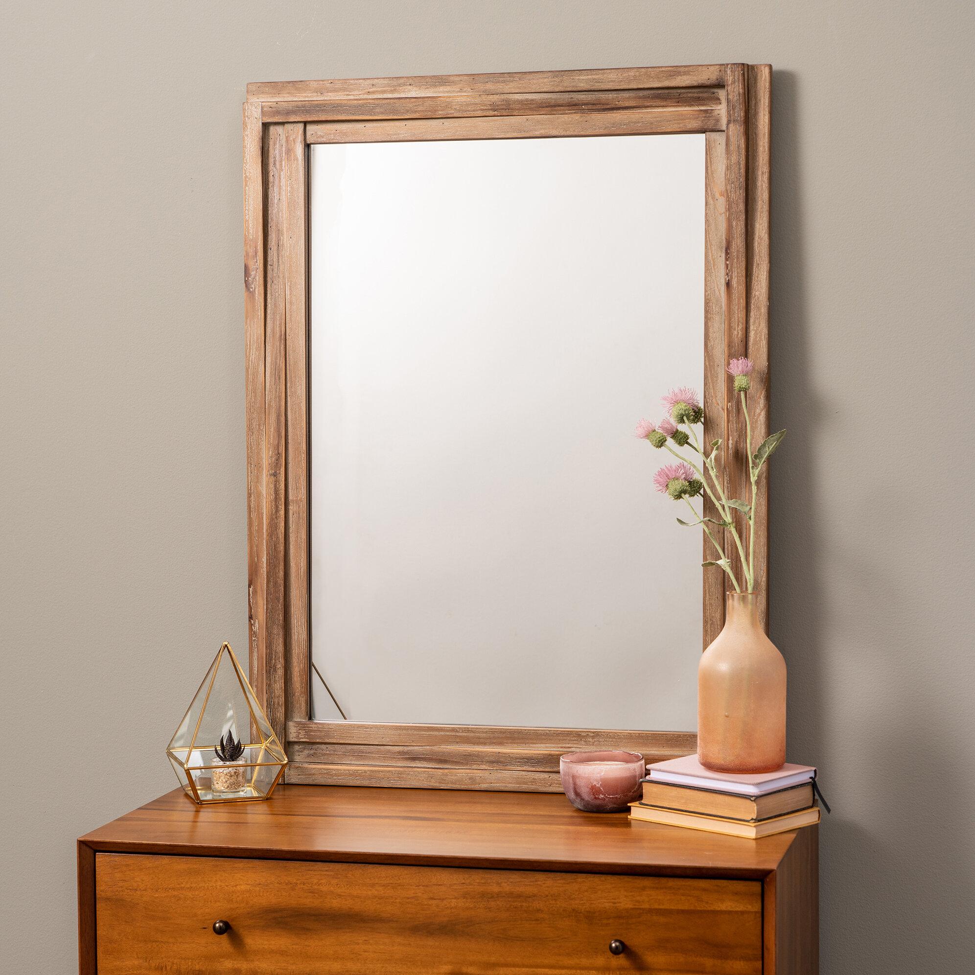 Jaylene Wall Mirror Pertaining To Janie Rectangular Wall Mirrors (Image 6 of 20)