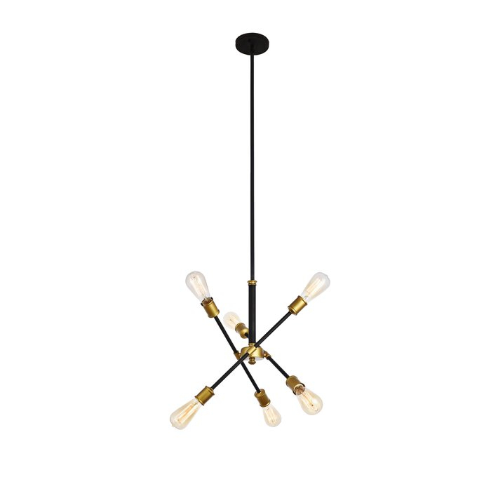 Johanne 6 Light Sputnik Chandelier For Johanne 6 Light Sputnik Chandeliers (Image 1 of 20)