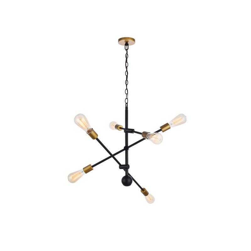 Johanne 6 Light Sputnik Chandelier In Johanne 6 Light Sputnik Chandeliers (Image 6 of 20)