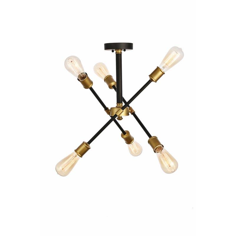 Johanne 6 Light Sputnik Chandelier With Regard To Johanne 6 Light Sputnik Chandeliers (Image 15 of 20)