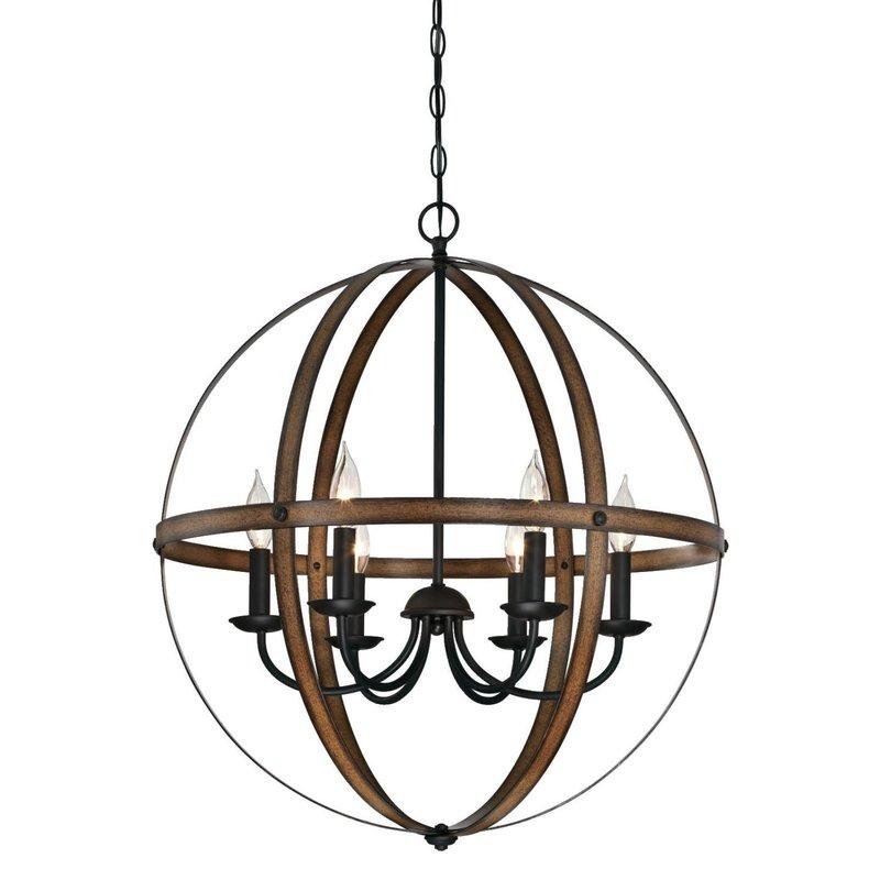 Joon 6 Light Globe Chandelier With Alden 6 Light Globe Chandeliers (View 19 of 20)