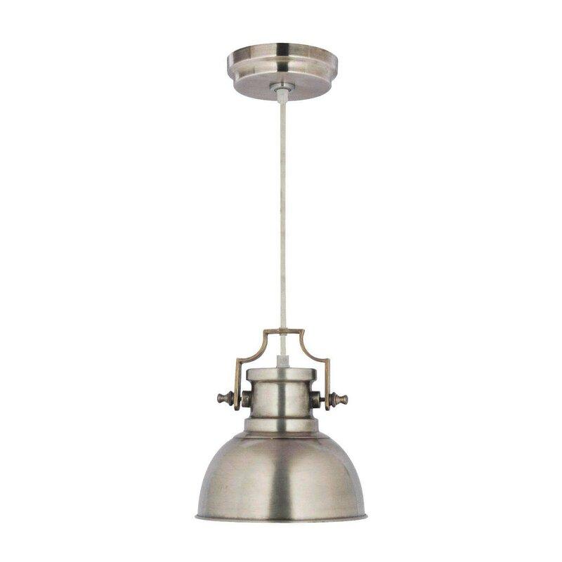 Jules 1 Light Single Dome Pendant Pertaining To Ryker 1 Light Single Dome Pendants (View 21 of 25)