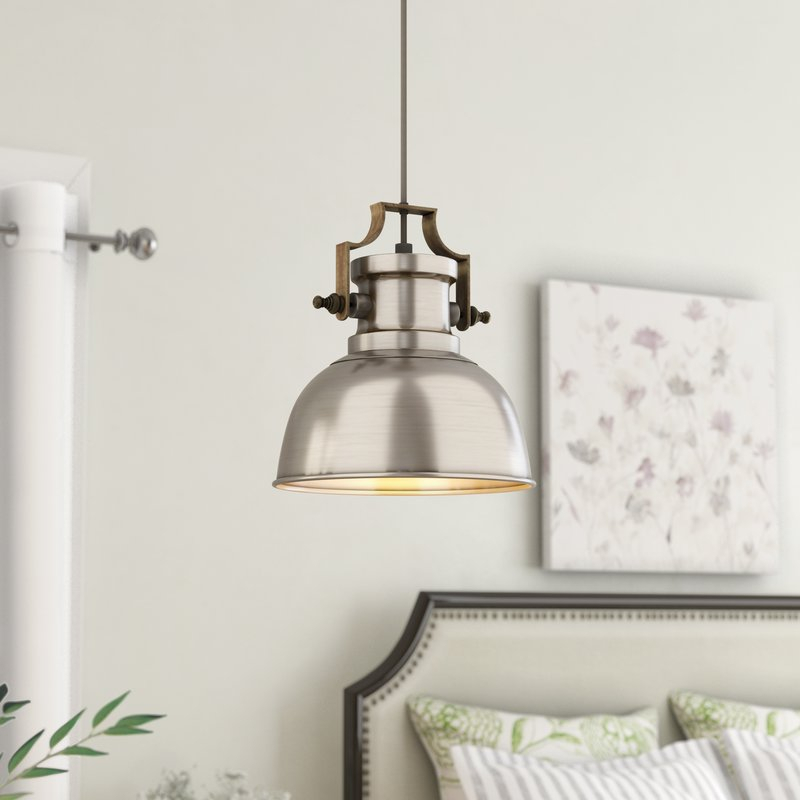 Jules 1 Light Single Dome Pendant With Regard To Mueller 1 Light Single Dome Pendants (View 13 of 25)