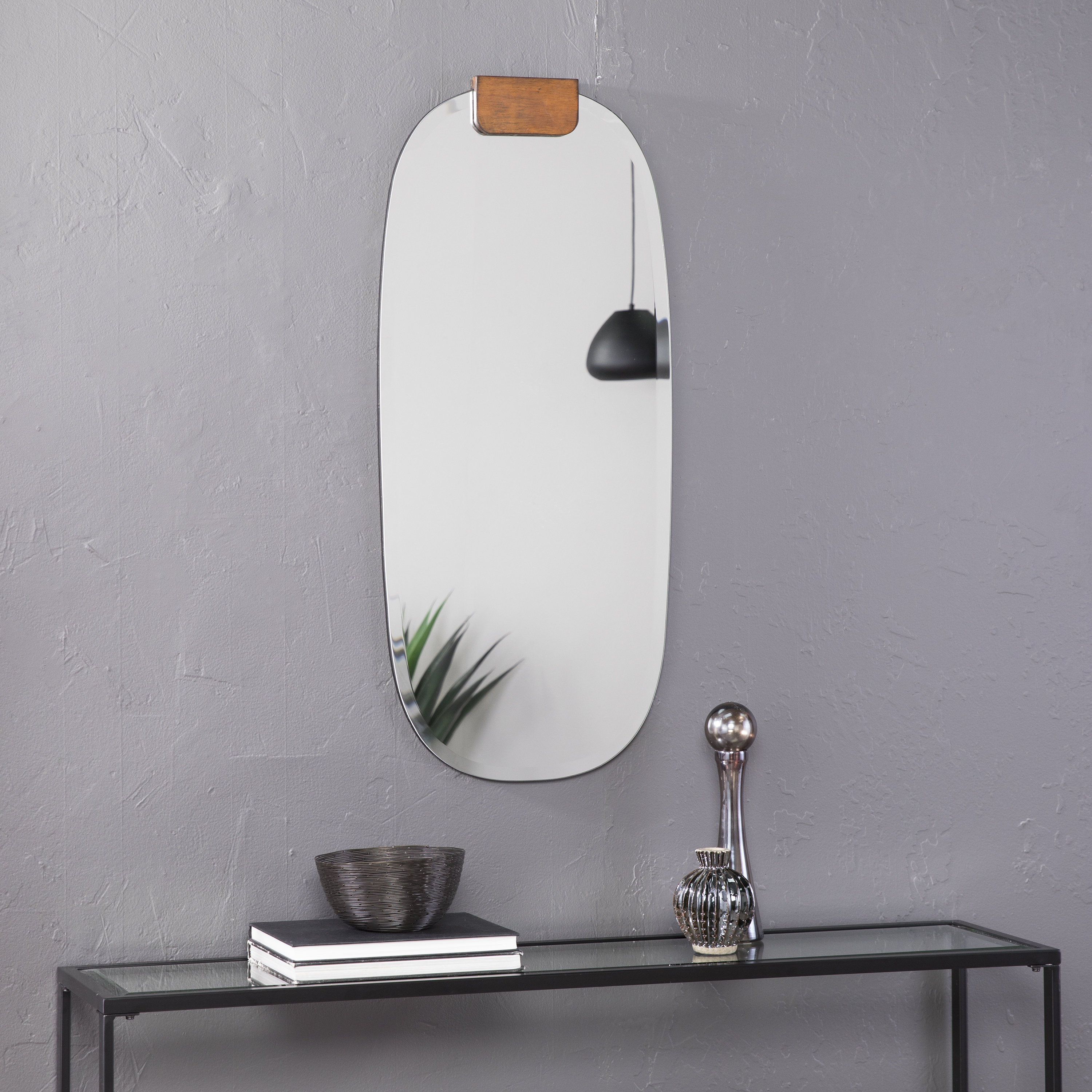 Jules Frameless Accent Mirror With Rena Accent Mirrors (Image 12 of 20)