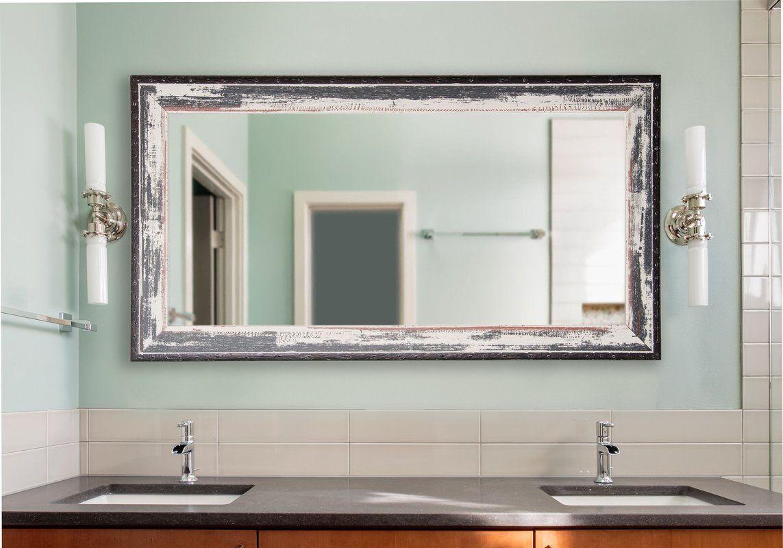 Junipero Modern & Contemporary Bathroom/vanity Mirror In With Landover Rustic Distressed Bathroom/vanity Mirrors (Image 9 of 20)