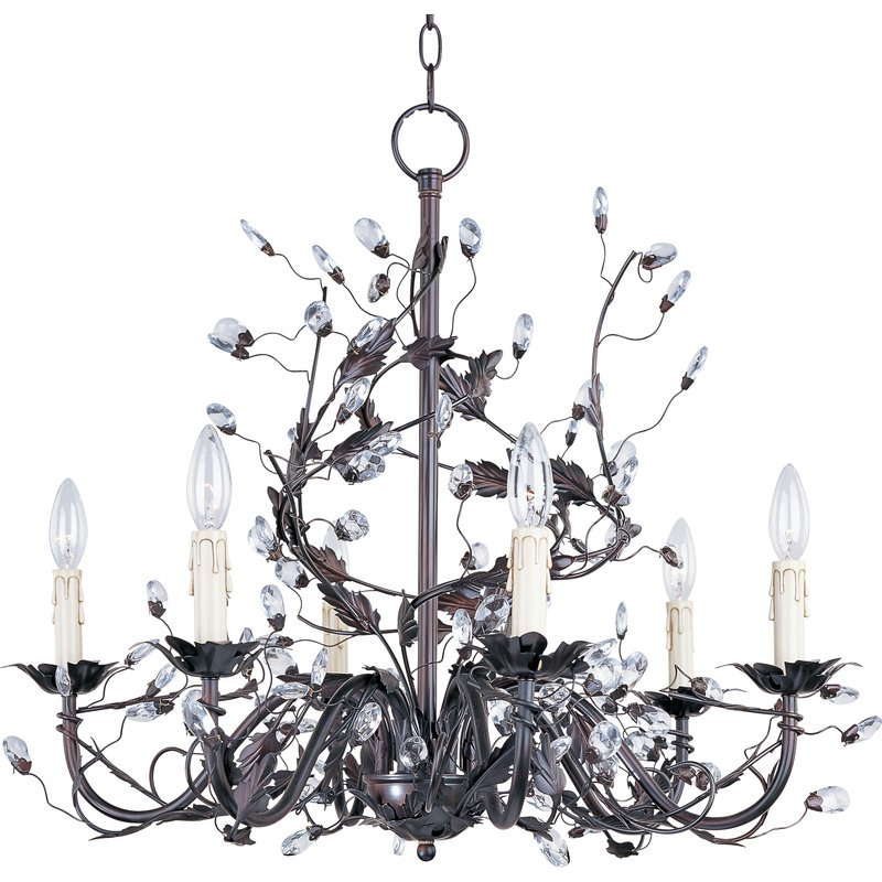 Kaiya 6 Light Candle Style Chandelier Regarding Hesse 5 Light Candle Style Chandeliers (Image 17 of 20)
