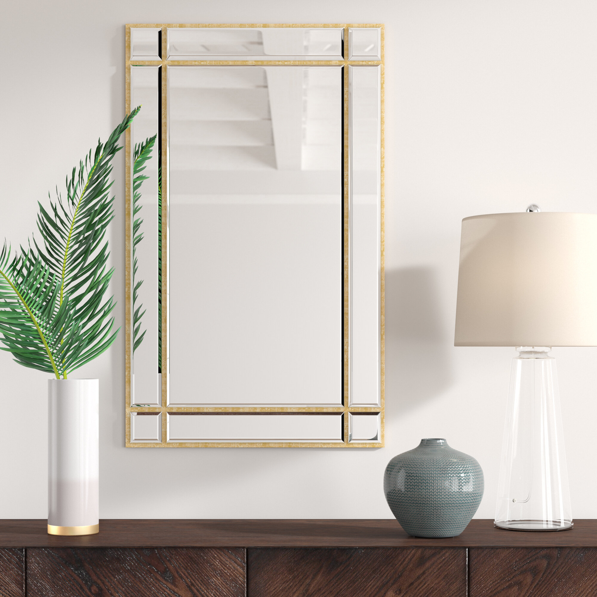 Kallas Accent Mirror With Perillo Burst Wood Accent Mirrors (Image 11 of 20)
