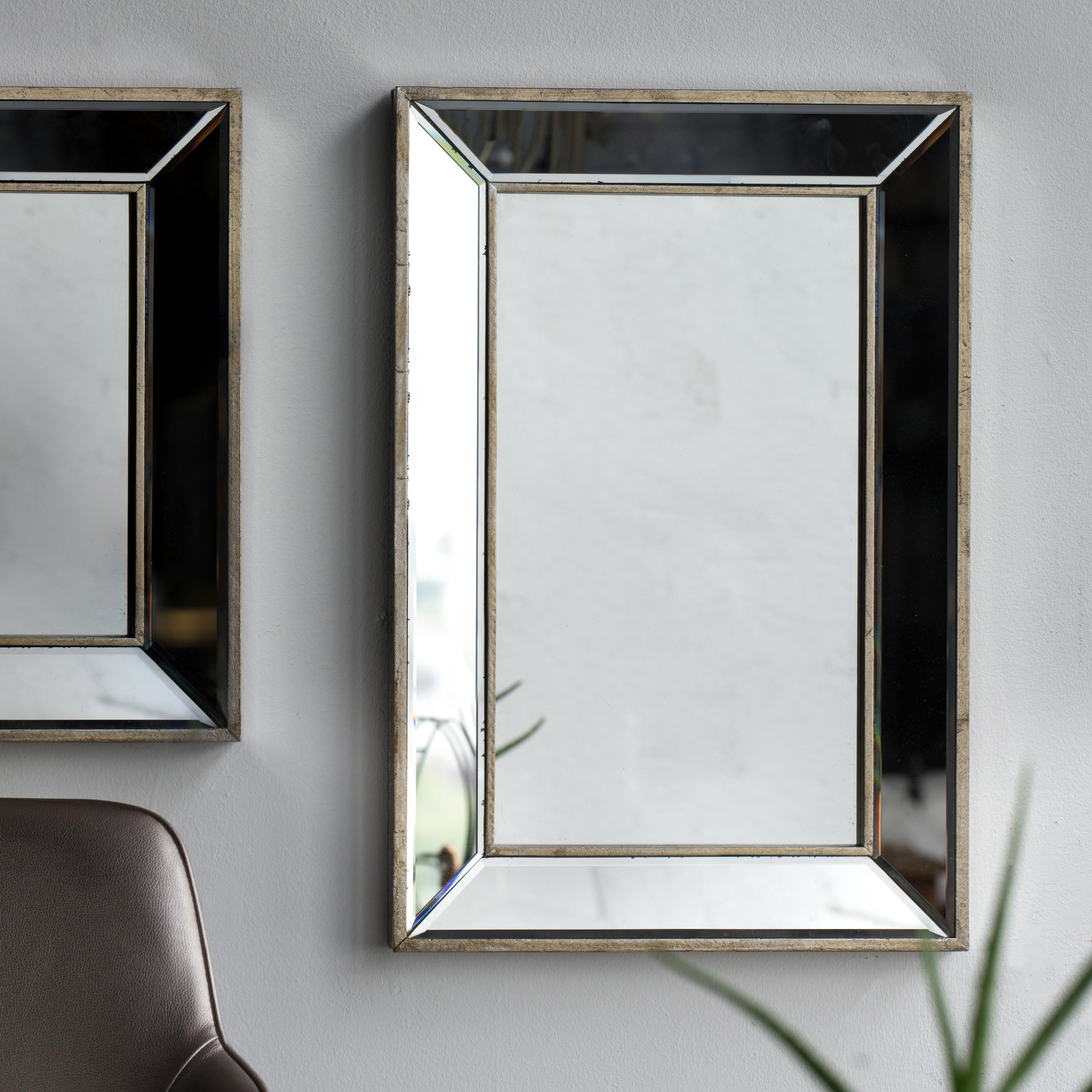 Kapp Rectangle Accent Wall Mirror Intended For Lake Park Beveled Beaded Accent Wall Mirrors (View 10 of 20)