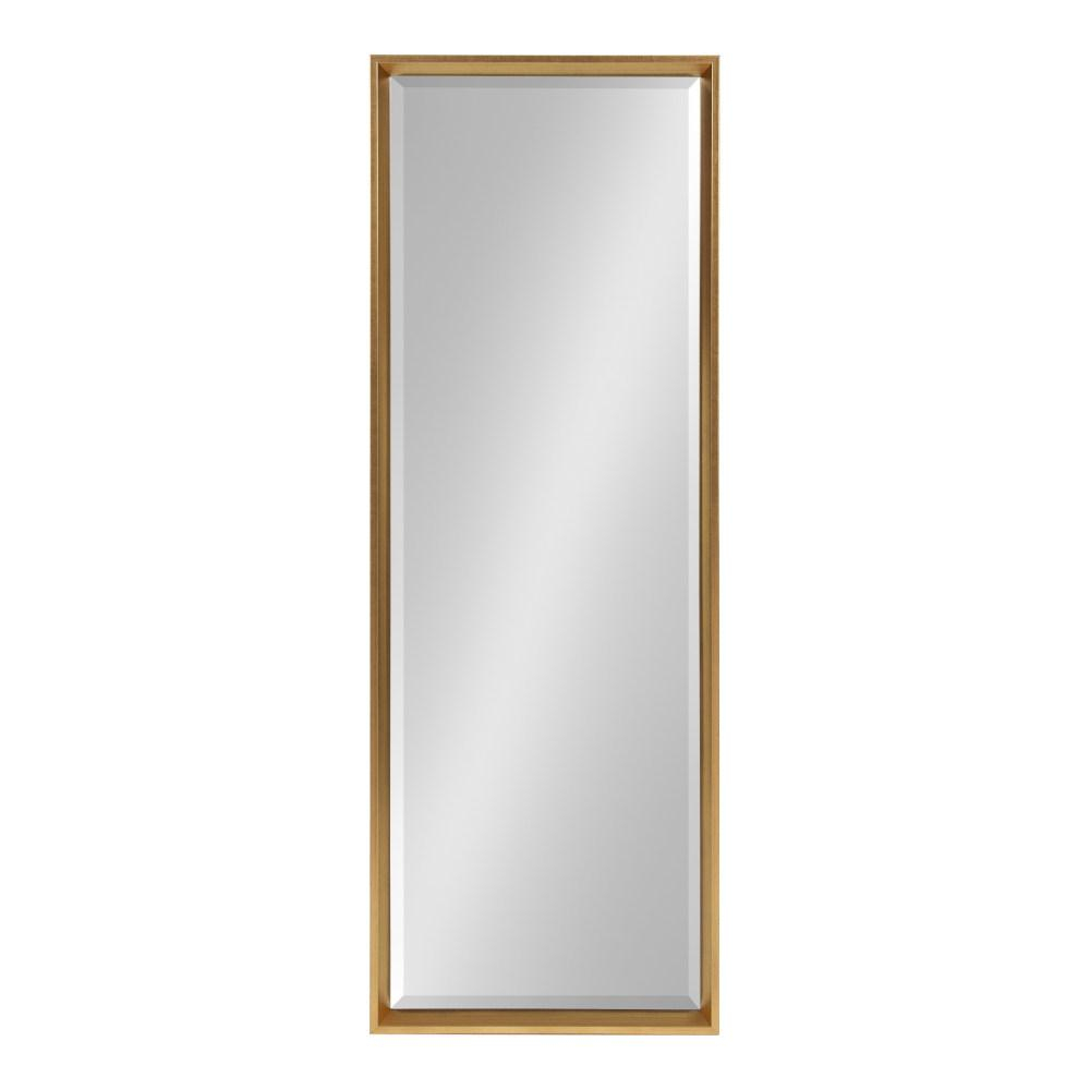 Kate And Laurel Calter Rectangle Gold Plastic Wall Mirror Inside Rectangle Plastic Beveled Wall Mirrors (View 11 of 20)