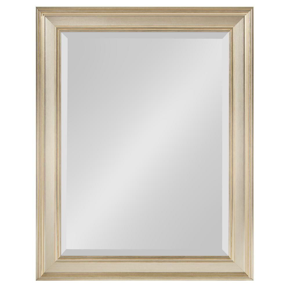 Kate And Laurel Corrigan Rectangle Silver Wall Mirror Intended For Tellier Accent Wall Mirrors (Image 9 of 20)