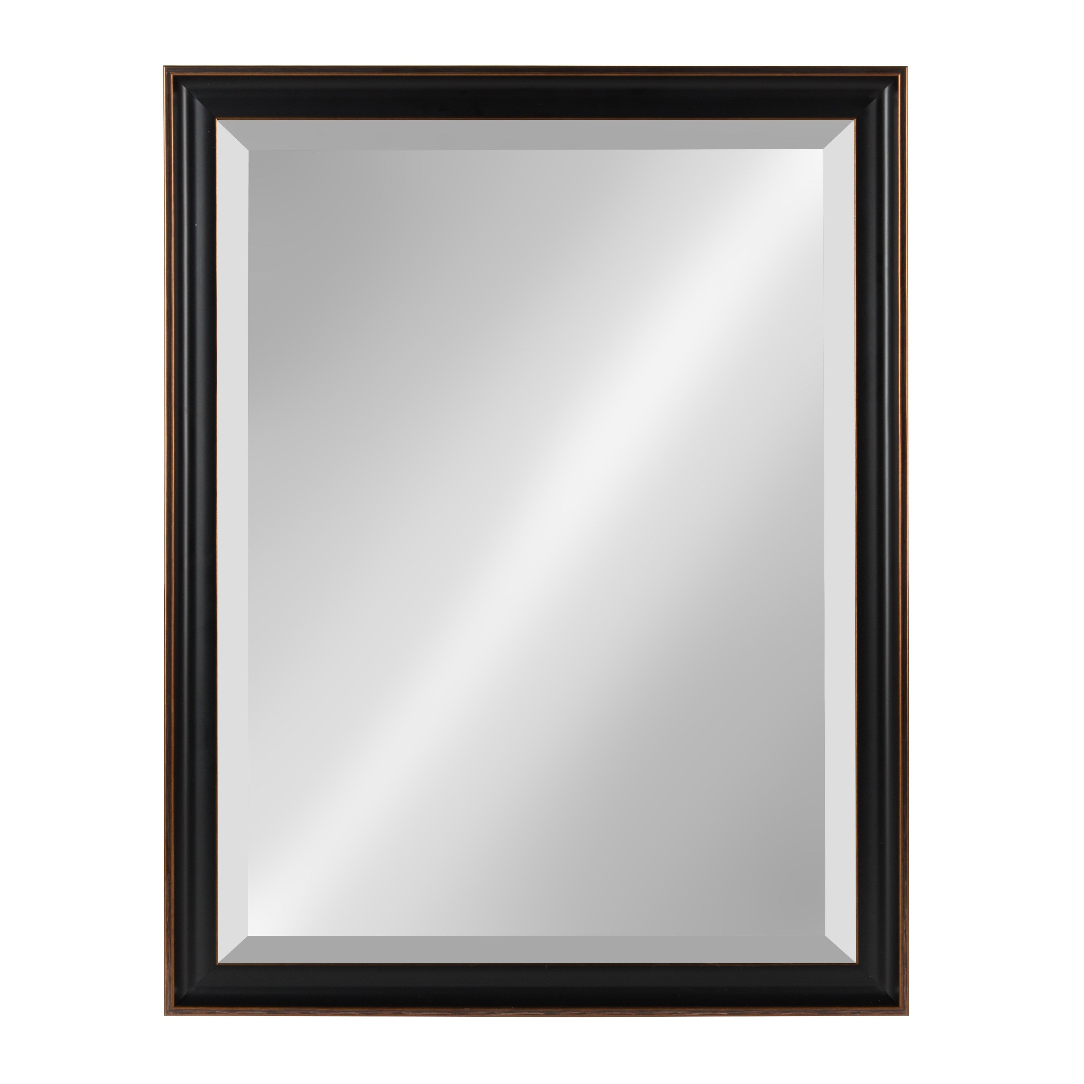 Kate And Laurel Havana Framed Beveled Wall Mirror – Antique Bronze In Rectangle Plastic Beveled Wall Mirrors (View 6 of 20)