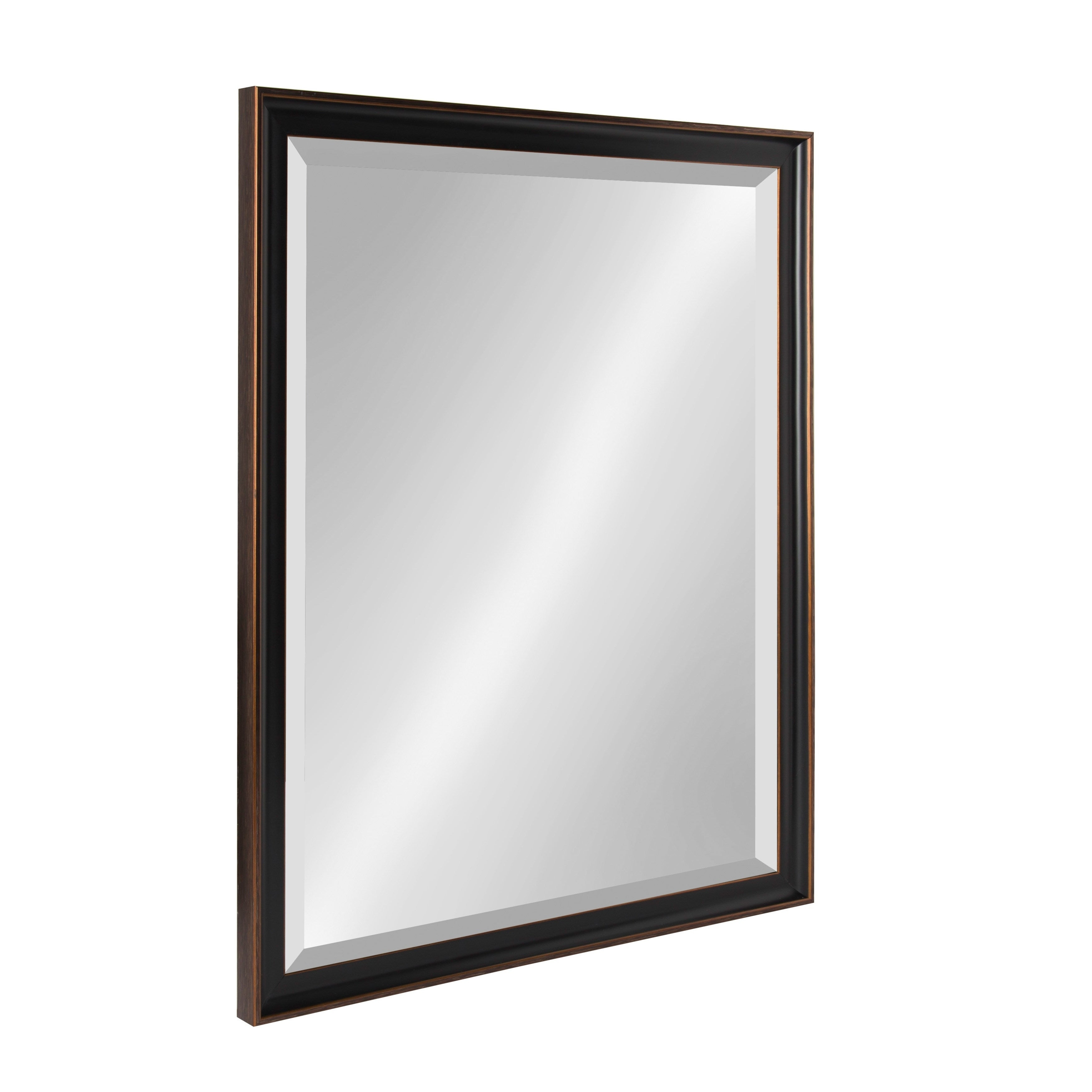 Kate And Laurel Havana Framed Beveled Wall Mirror – Antique Bronze With Rectangle Plastic Beveled Wall Mirrors (View 13 of 20)