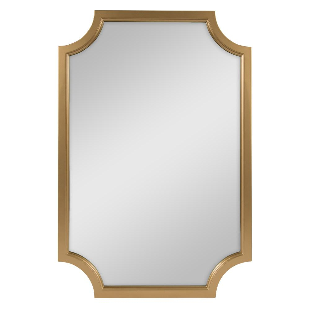 Kate And Laurel Hogan Irregular Gold Accent Mirror 213996 Within Wood Accent Mirrors (View 7 of 20)