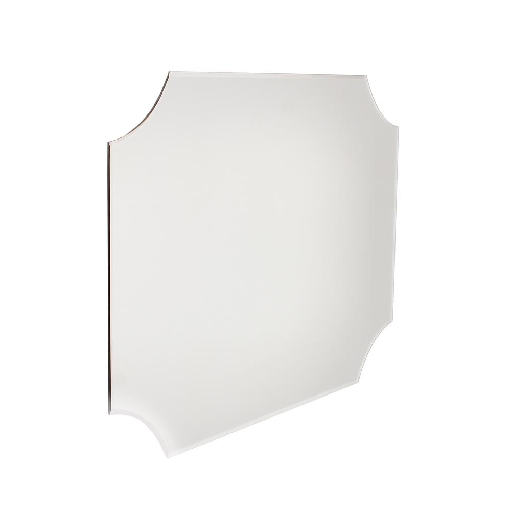 Kate And Laurel Reign Frameless Rectangle Scalloped Beveled With Regard To Reign Frameless Oval Scalloped Beveled Wall Mirrors (Image 9 of 20)