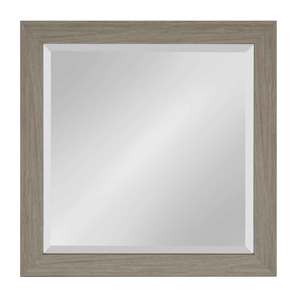 Kate And Laurel Scoop Rectangle Gray Accent Mirror 214019 Pertaining To Rectangle Accent Mirrors (View 17 of 20)