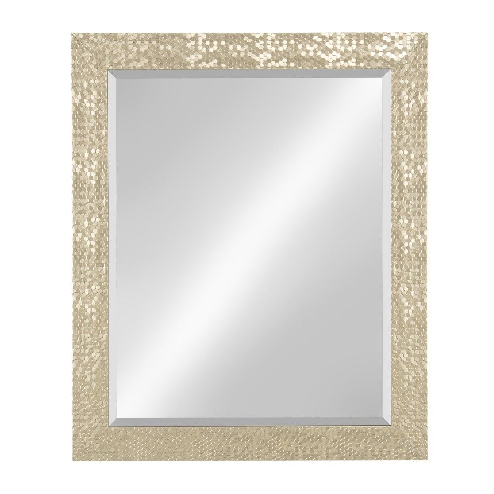 "Kate & Laurel 27""x33"" Coolidge Framed Beveled Wall Vanity Inside Dedrick Decorative Framed Modern And Contemporary Wall Mirrors (View 5 of 20)"