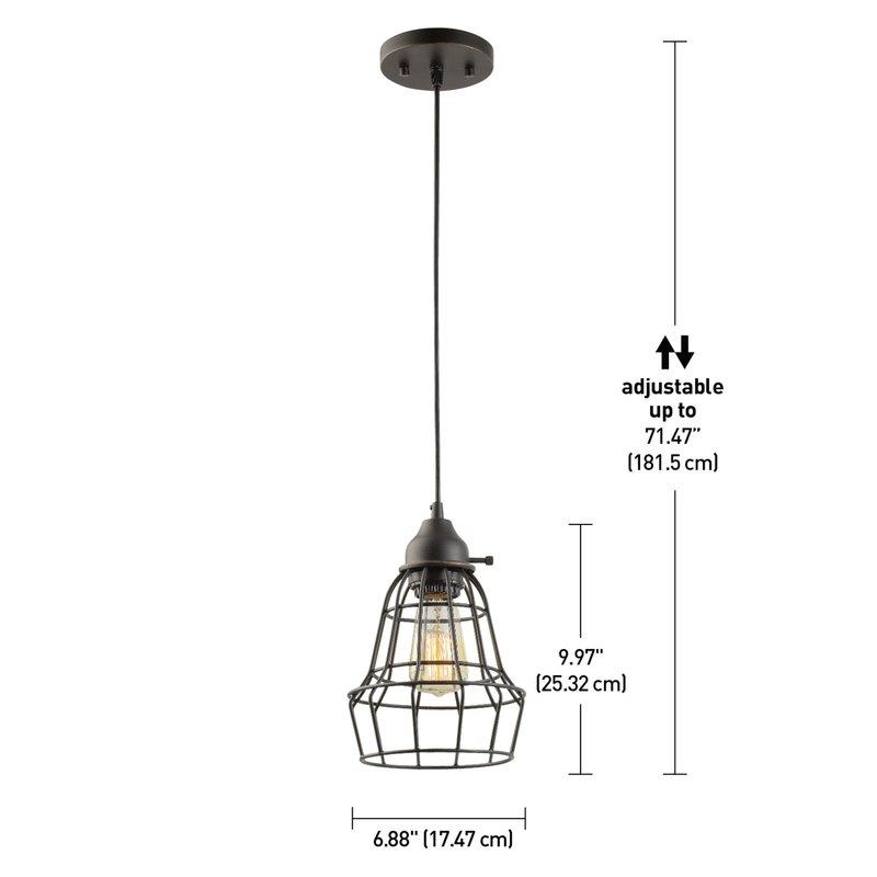 Kathi 1 Light Lantern Pendant Regarding Barrons 1 Light Single Cylinder Pendants (View 18 of 25)