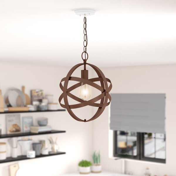 Katie 1 Light Single Globe Pendant Regarding Kilby 1 Light Pendants (View 11 of 25)