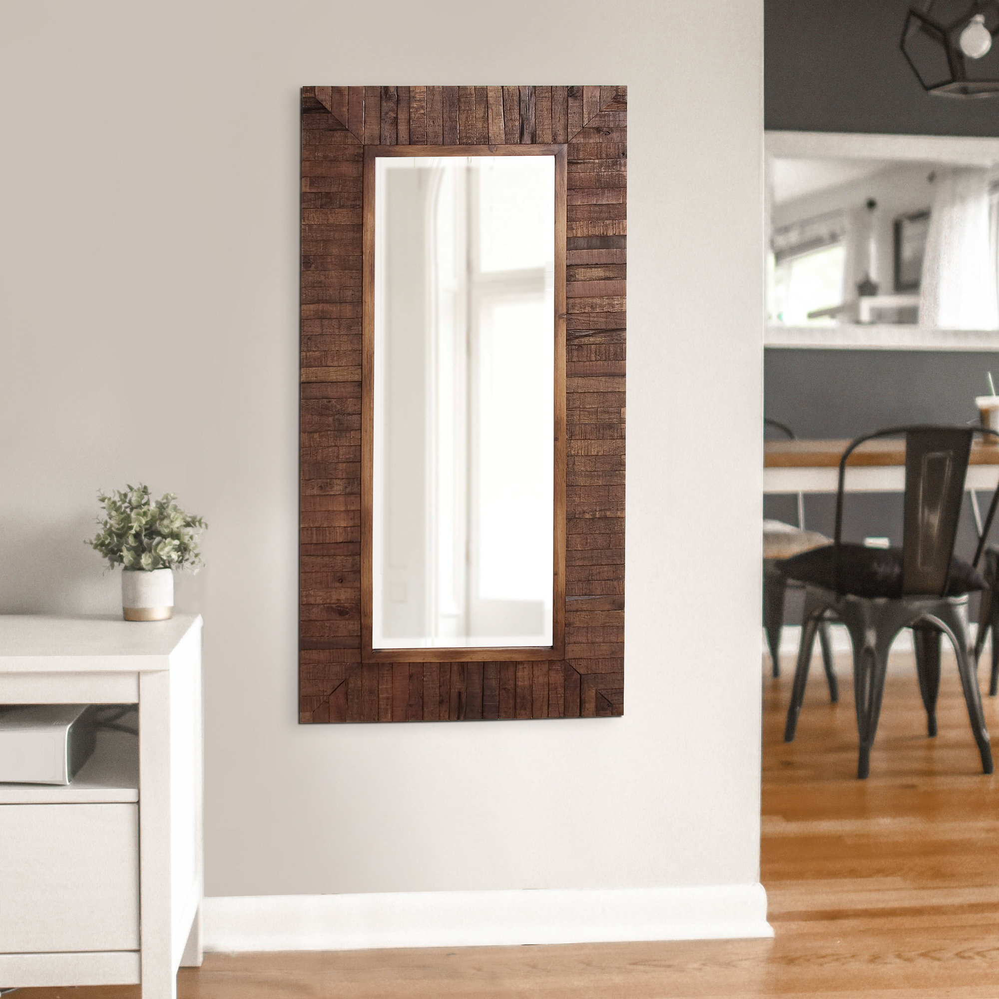 Kehoe Wall Mirror With Booth Reclaimed Wall Mirrors Accent (Image 7 of 20)