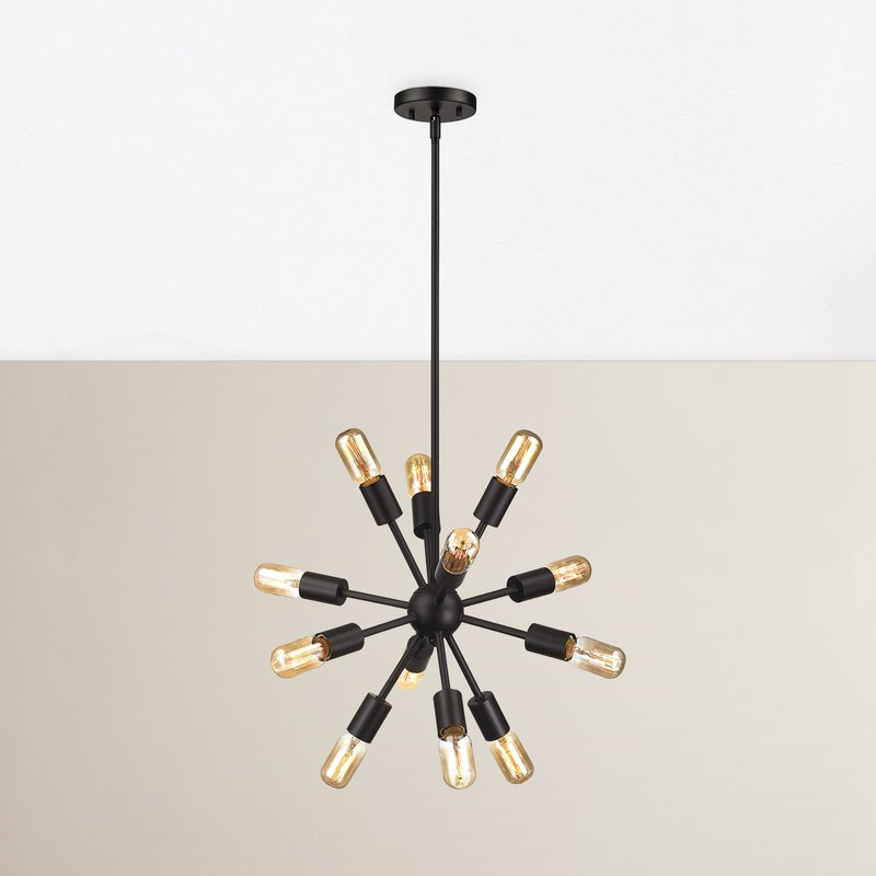 Kendall 12 Light Sputnik Chandelier Pertaining To Vroman 12 Light Sputnik Chandeliers (Image 12 of 20)