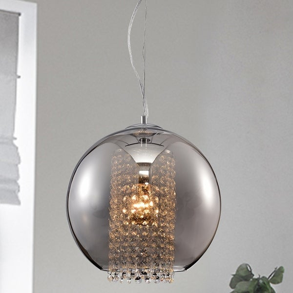 Kendall Chrome 1 Light Globe Pendant With 1 Light Globe Pendants (Image 13 of 25)