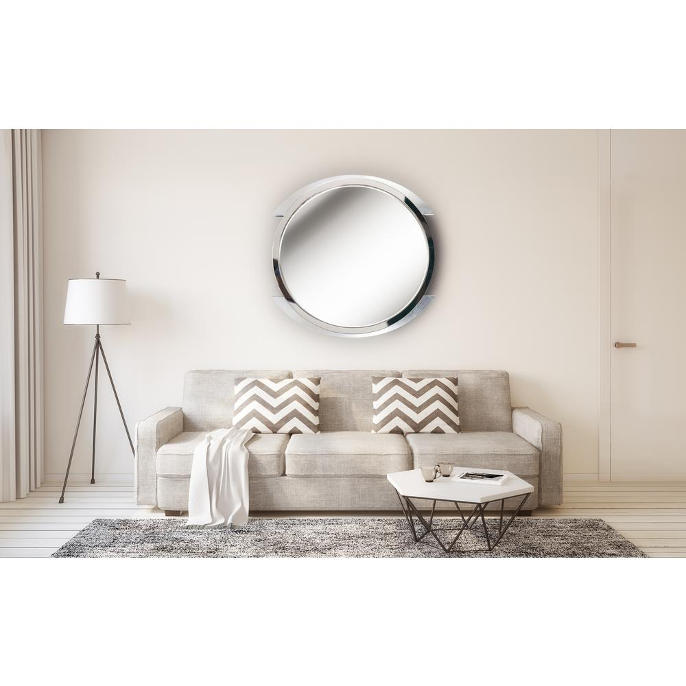 Kenroy Home Maiar Round Steel Vanity Wall Mirror 60234 – The For Swagger Accent Wall Mirrors (View 13 of 20)