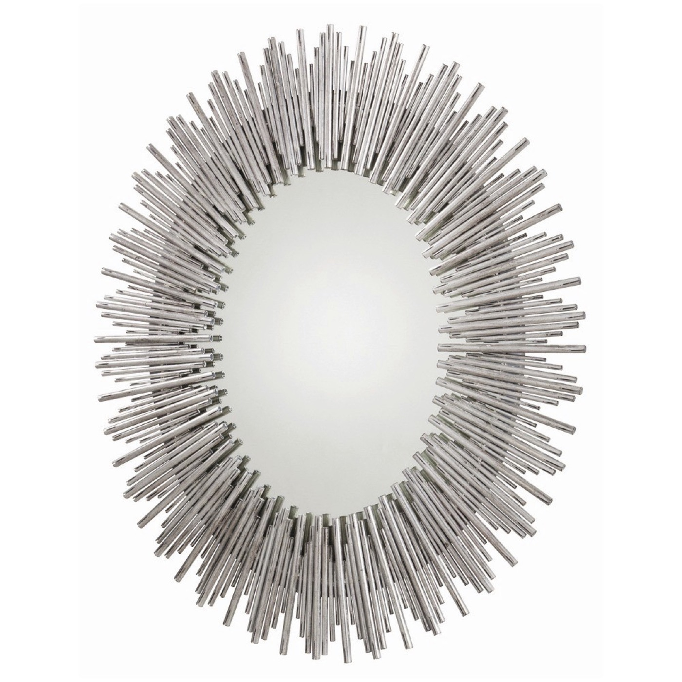 Kentwood Oval Wall Mirror | Silver In Kentwood Round Wall Mirrors (View 19 of 20)