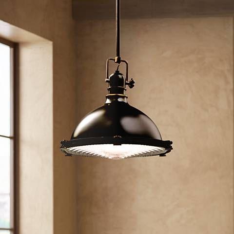 """Kichler Olde Bronze Fresnel Lens 13 1/2"""" Wide Pendant Light For Amara 2 Light Dome Pendants (View 13 of 25)"""