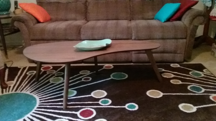 Kidney Shaped Coffee Table (Walnut) Within Madison Park Susie Coffee Tables 2 Color Option (View 19 of 25)