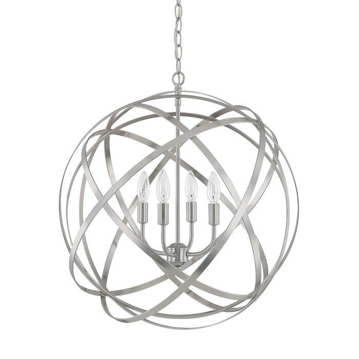 Kierra 4 Light Unique / Statement Chandelier In Hendry 4 Light Globe Chandeliers (Image 12 of 20)