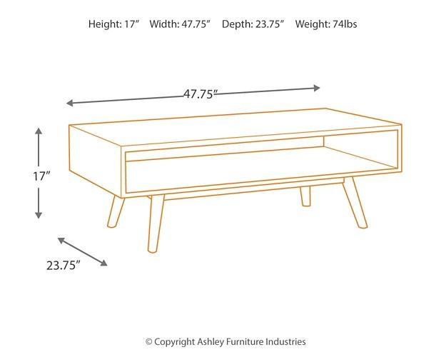 Kisper – Dark Brown – Rectangular Cocktail Table Inside Kisper Rectangular Cocktail Tables (Image 14 of 48)