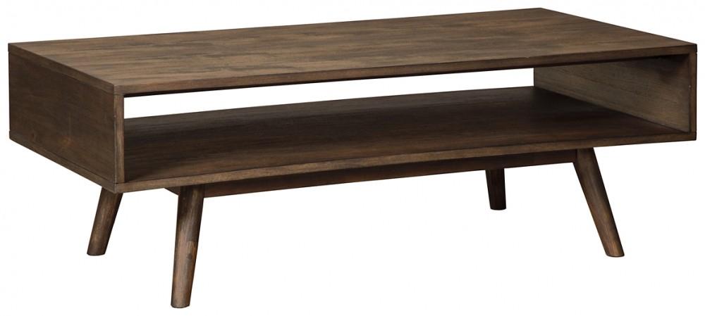 Kisper – Dark Brown – Rectangular Cocktail Table Throughout Kisper Rectangular Cocktail Tables (Image 15 of 48)