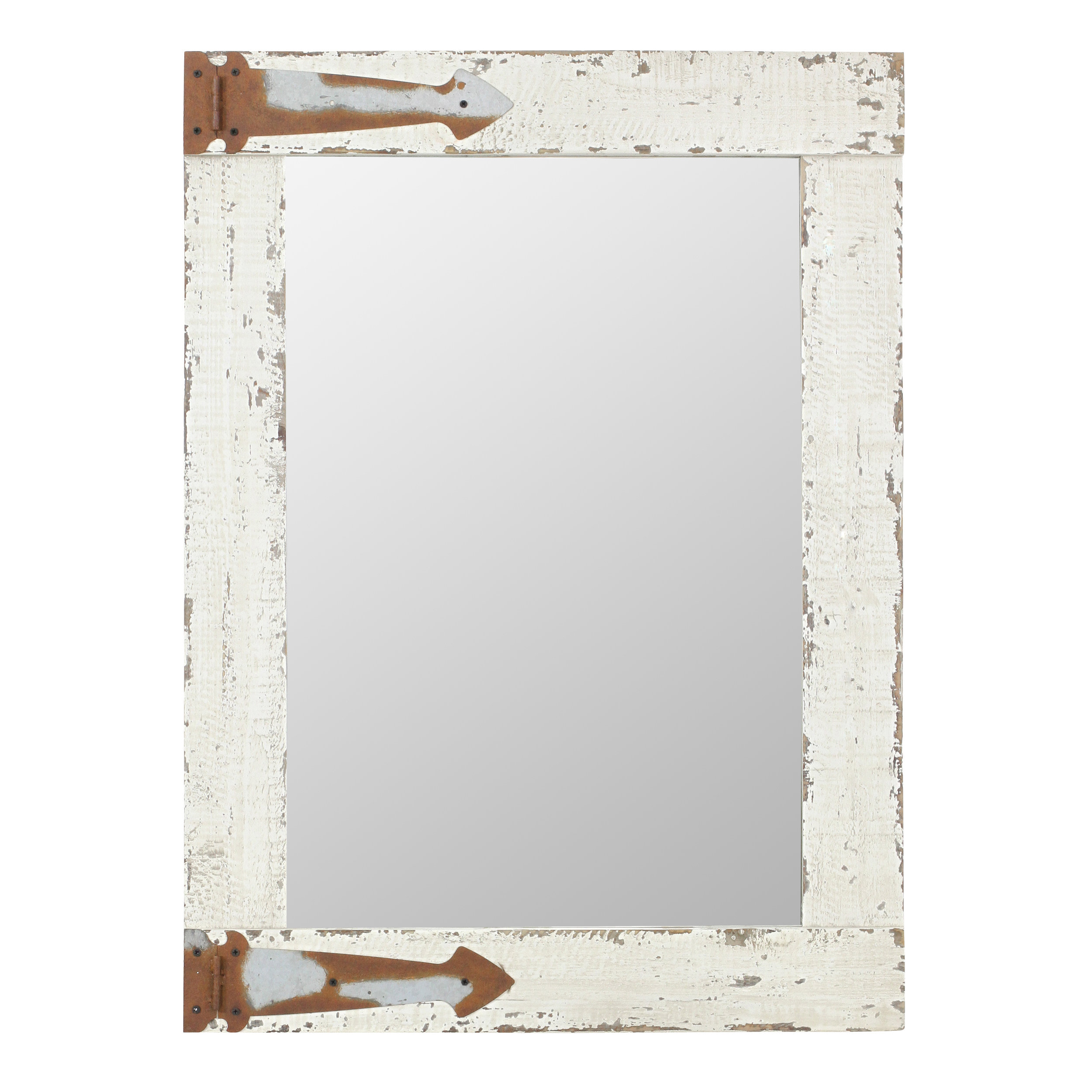 Kist Farmhouse Wall Mirror Pertaining To Stamey Wall Mirrors (Image 9 of 20)