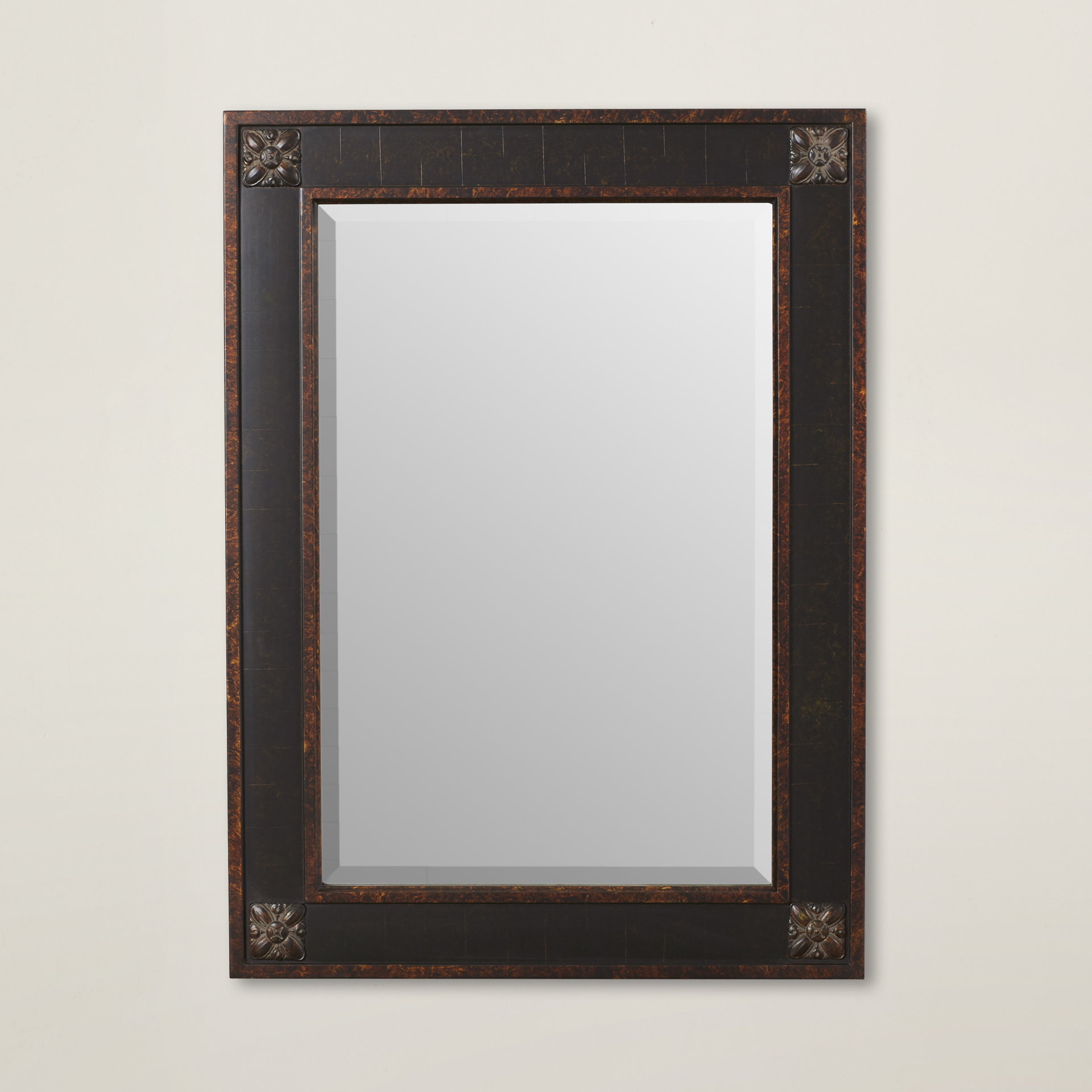 Featured Image of Kristy Rectangular Beveled Vanity Mirrors In Distressed