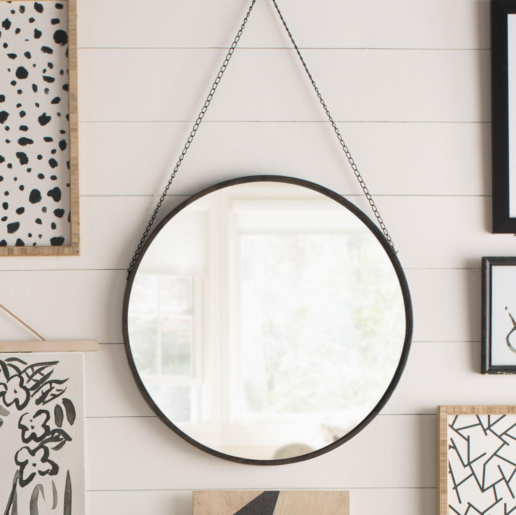 Kylie Round Wall Mirror | Products | Mirror, Round Wall Pertaining To Rhein Accent Mirrors (View 13 of 20)