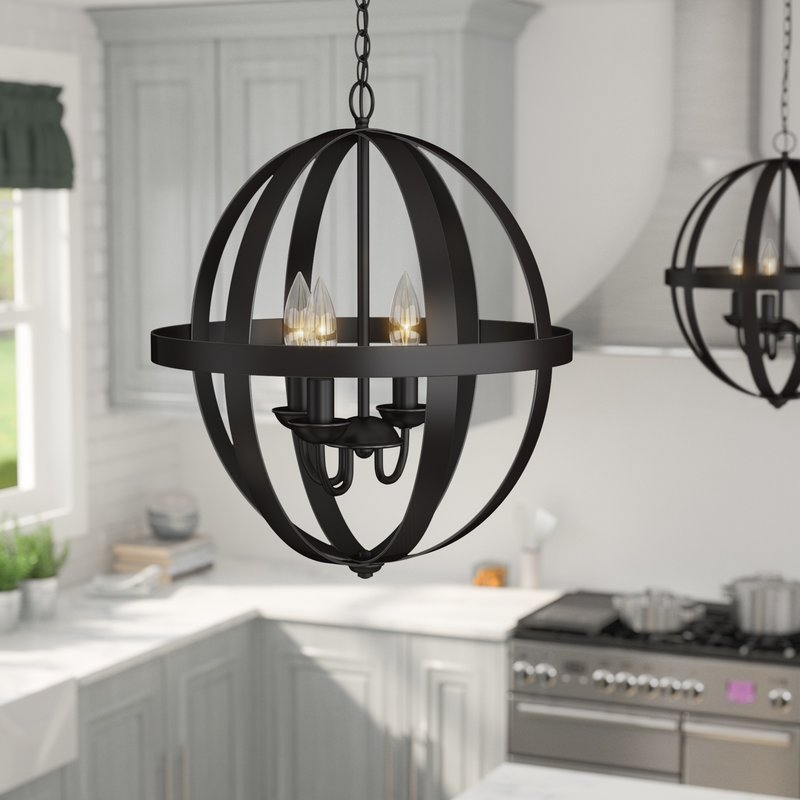 Featured Image of La Barge 3 Light Globe Chandeliers