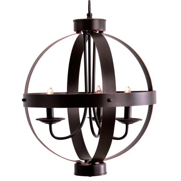 La Sarre 3 Light Globe Chandelier Inside La Sarre 3 Light Globe Chandeliers (View 2 of 20)