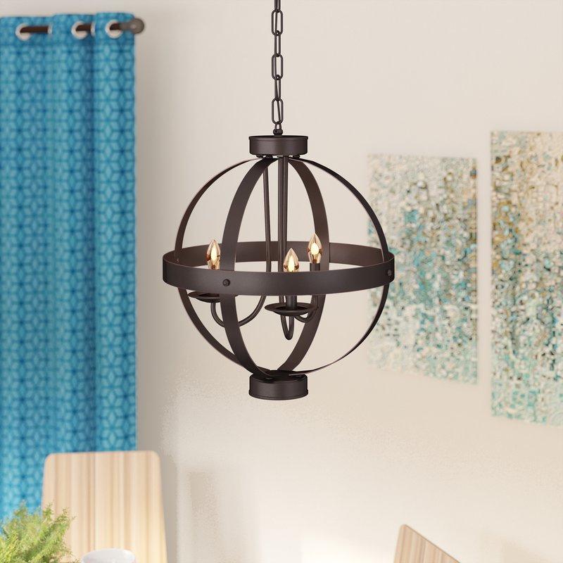 Featured Image of La Sarre 3 Light Globe Chandeliers