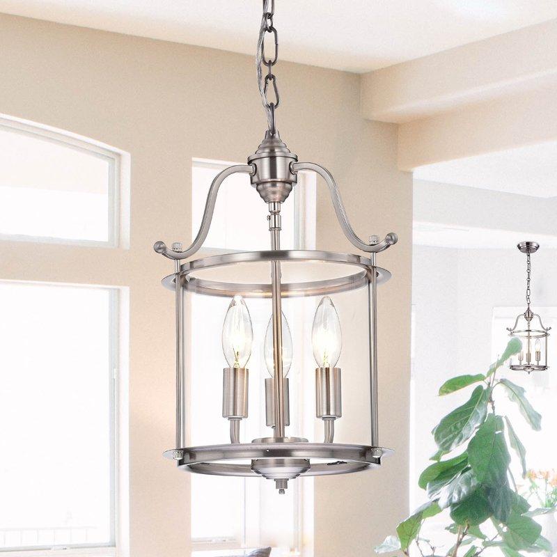 Labarge 3 Light Lantern Cylinder Pendant Pertaining To 3 Light Lantern Cylinder Pendants (View 12 of 20)