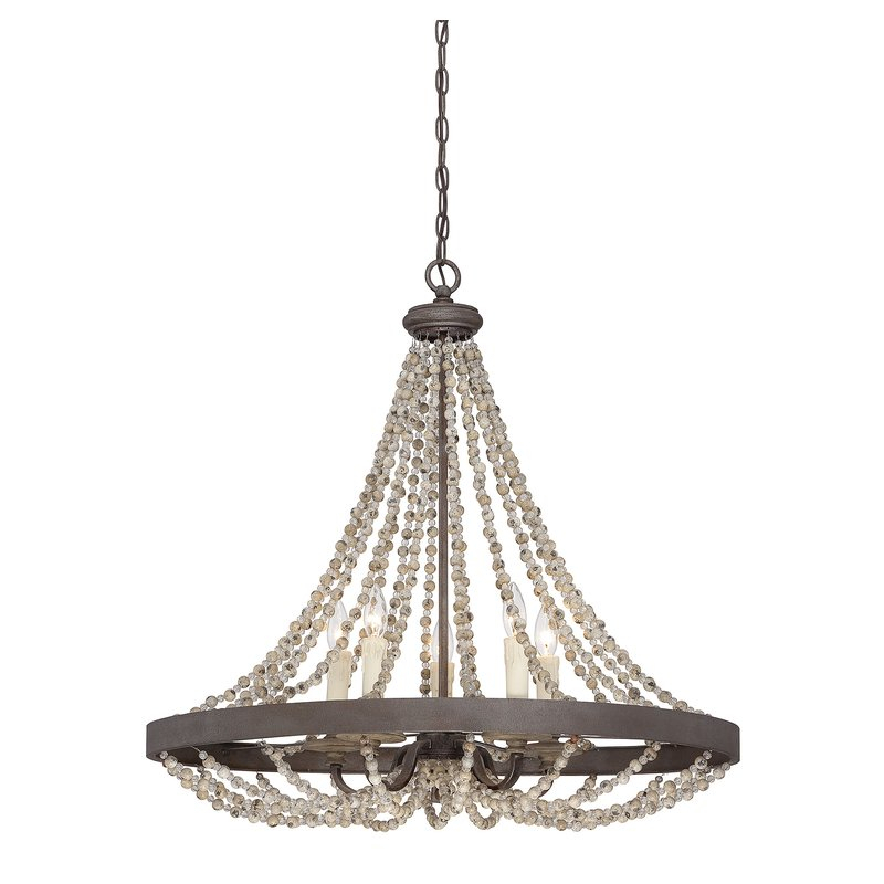 Ladonna 5 Light Novelty Chandelier With Regard To Duron 5 Light Empire Chandeliers (Image 10 of 20)