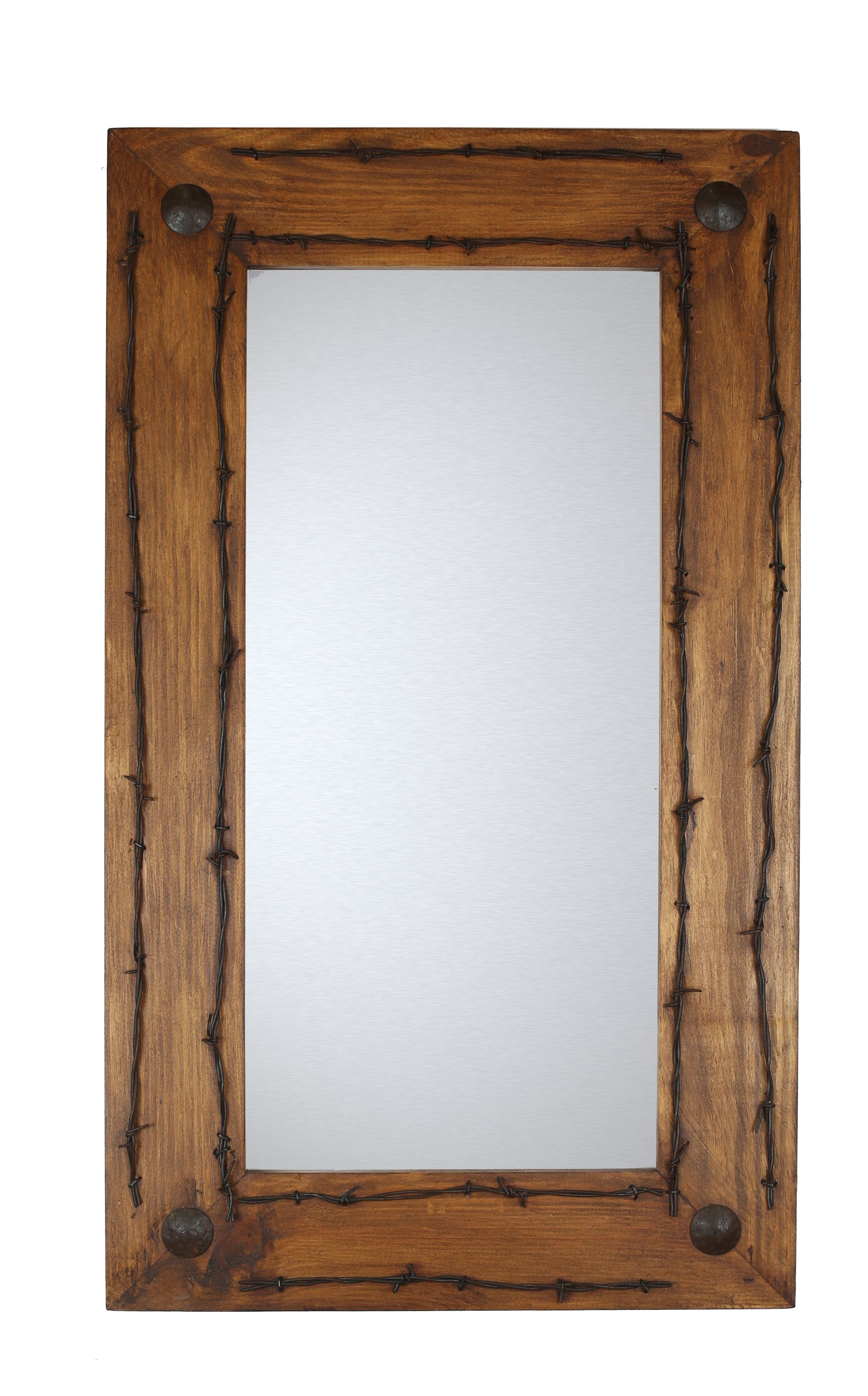 Lafollette Old Ranch Rustic Distressed Accent Mirror With Regard To Tifton Traditional Beveled Accent Mirrors (Image 7 of 20)