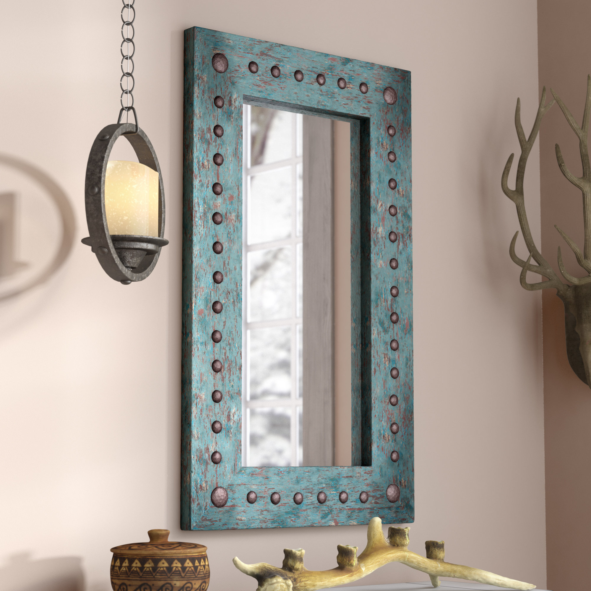 Lajoie Rustic Accent Mirror With Arrigo Accent Mirrors (View 5 of 20)