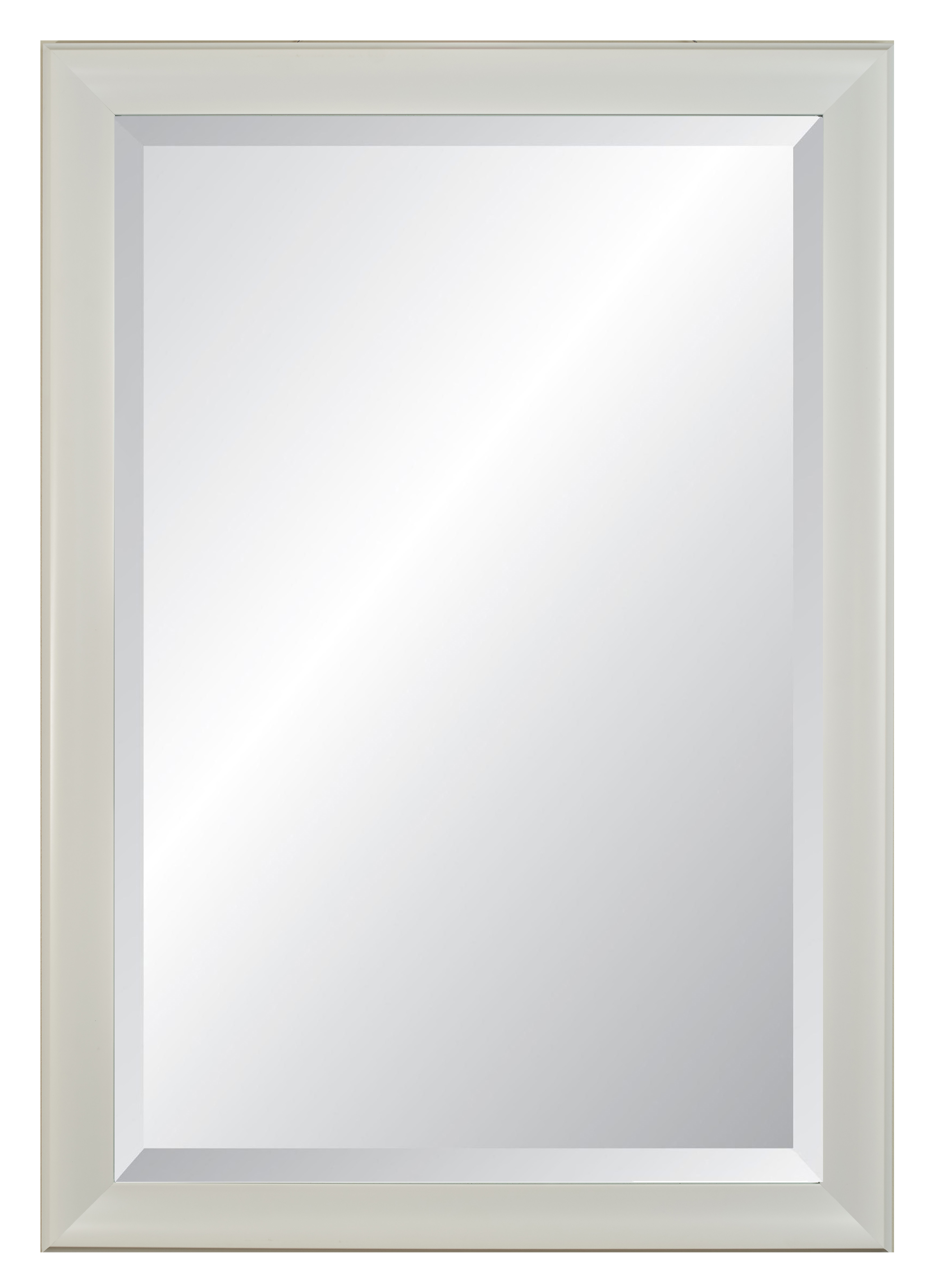 """Lakeside White Frame, Beveled Wall Mirror 28"""" X 40"""" With Regard To Rectangle Plastic Beveled Wall Mirrors (View 8 of 20)"""