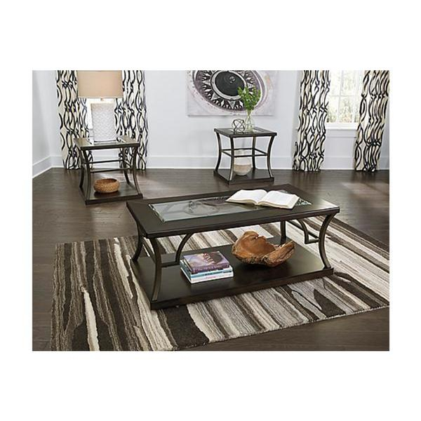 Lamink Casual 3 Piece Table Set In Gracewood Hollow Fishta Antique Brass Metal Glass 3 Piece Tables (View 23 of 25)