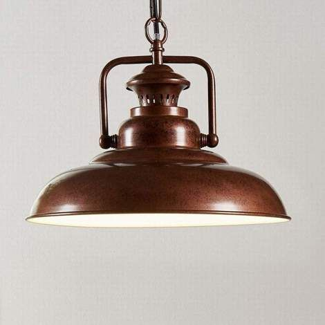 Lámpara Suspendida Nico De Aspecto Industrial | For Home Pertaining To Mueller 1 Light Single Dome Pendants (View 21 of 25)
