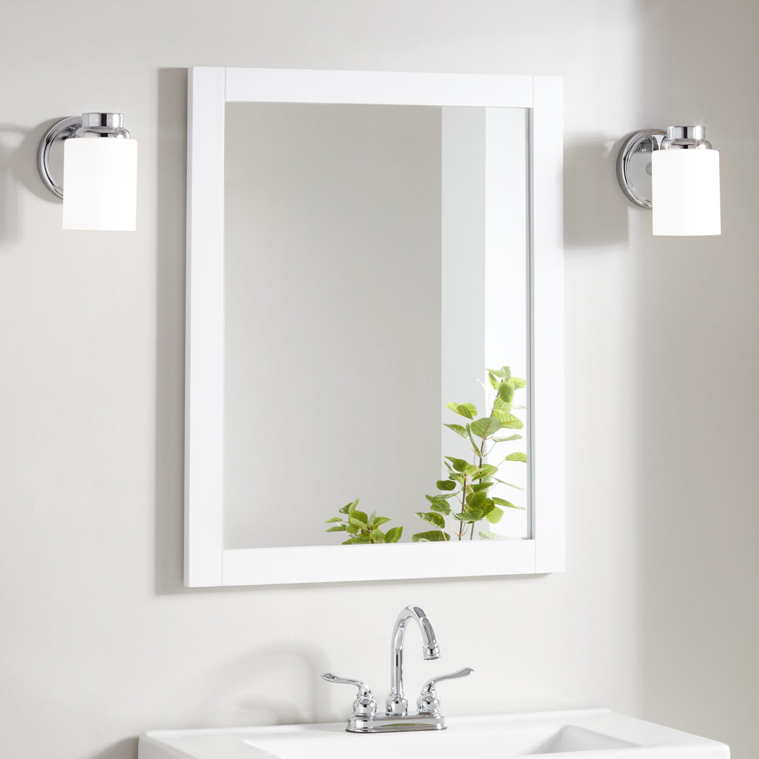 Lander Vanity Mirror – White Regarding Vanity Mirrors (View 2 of 20)