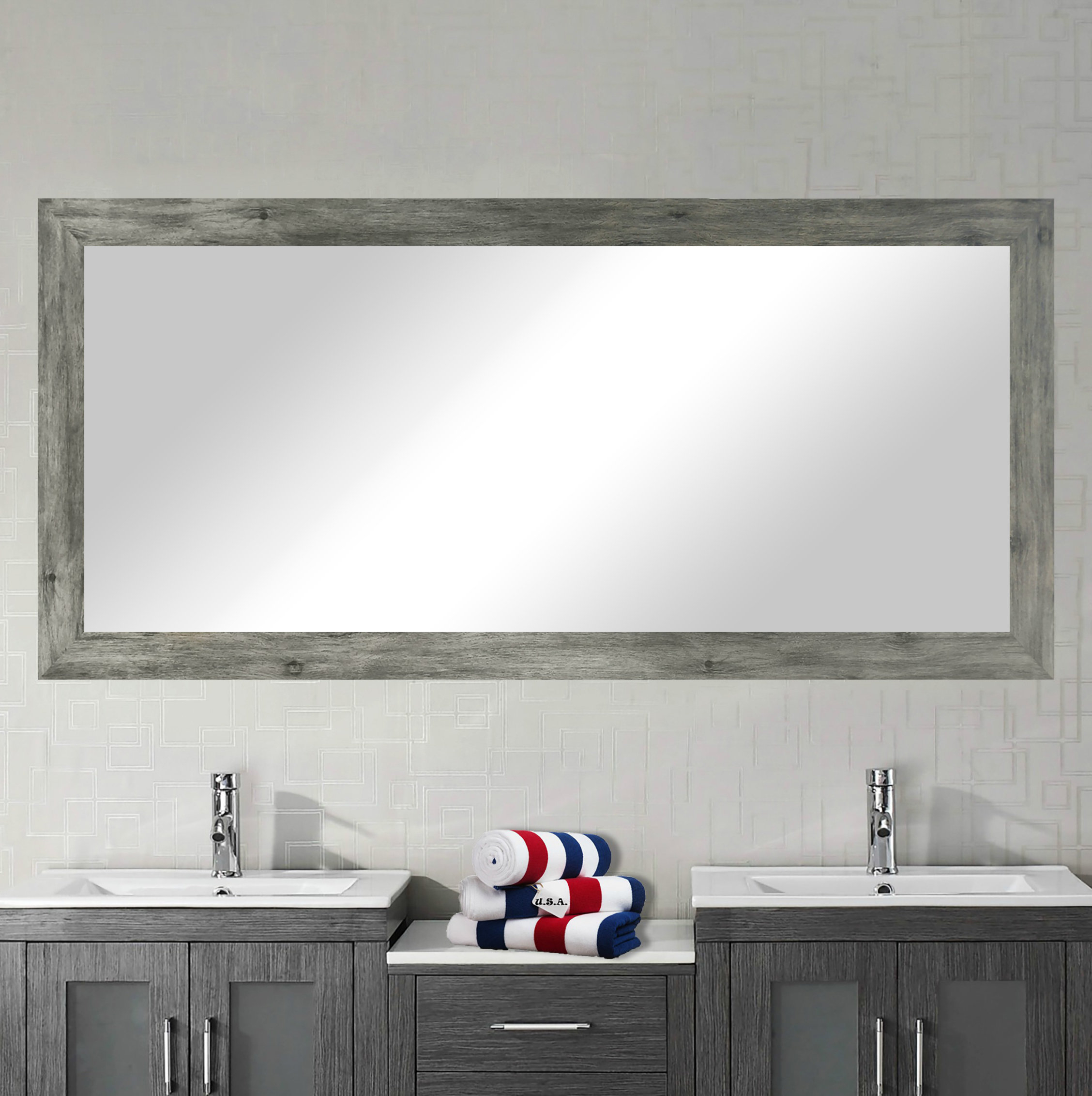 Featured Image of Landover Rustic Distressed Bathroom/vanity Mirrors